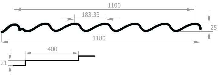 схема металлочерепицы макси