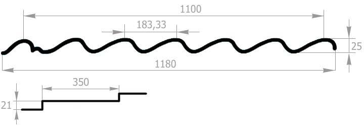 схема металлочерепицы супермонтеррей